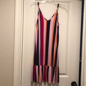 Wunder Slip Dress Bold Stripe Vertical